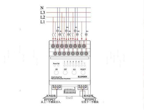 智能照明控制系统接线图