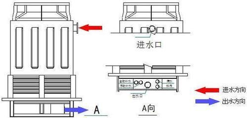 广东方形逆流式冷却塔