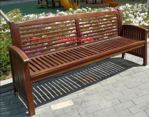 供应楚工实木休闲公园椅街道休息长椅