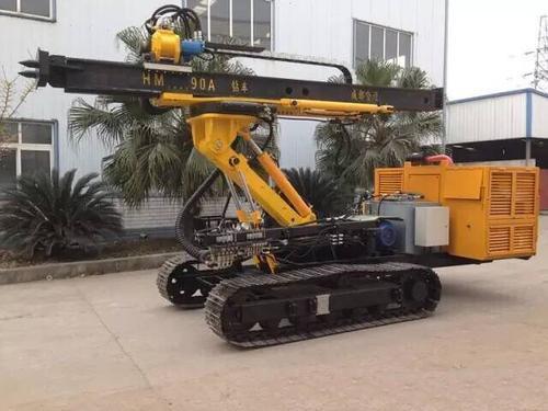 哈迈HM90AC柴电双动力全液压履带锚固多功能钻车