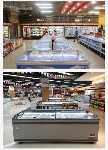 肯德超市无霜组合卧式 岛柜海鲜水饺冷冻展示柜新款包