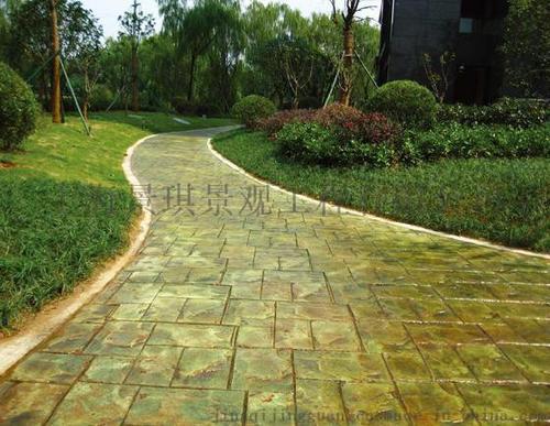 彩色透水混凝土、防滑路面材料供应