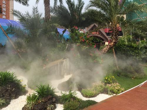 人造雾景观系统自然韵味的营造独特魅力