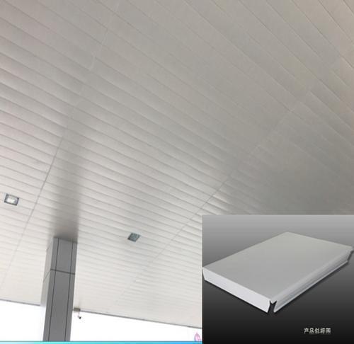 加油站雨棚防风条扣天花_条形板