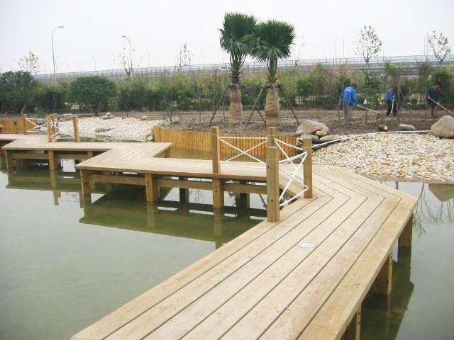青岛防腐木景观步道,木栈道,桥