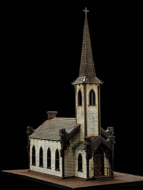 枪支弹药搭建宗教建筑模型