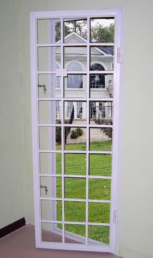 西安方格子防盗窗,锌合金复合防蚊防盗窗