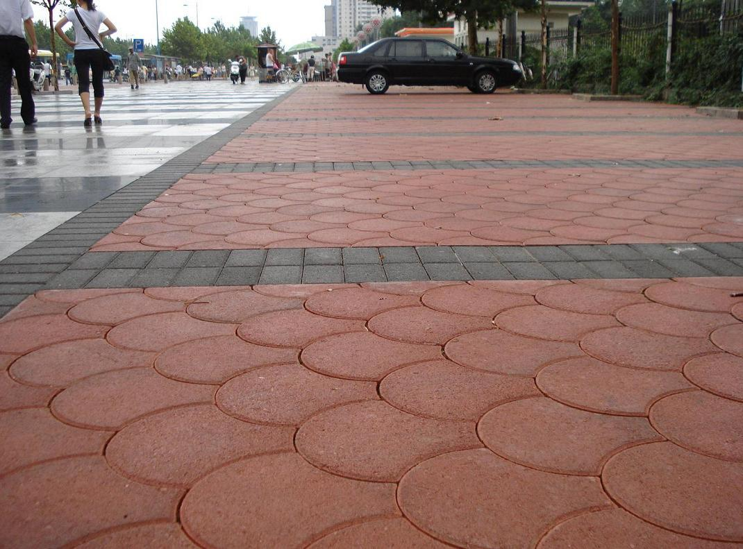 扇形广场手绘景观效果图