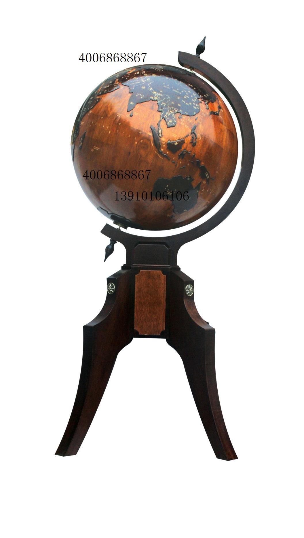 地球仪、实木浮雕地球仪、诚信人地球仪