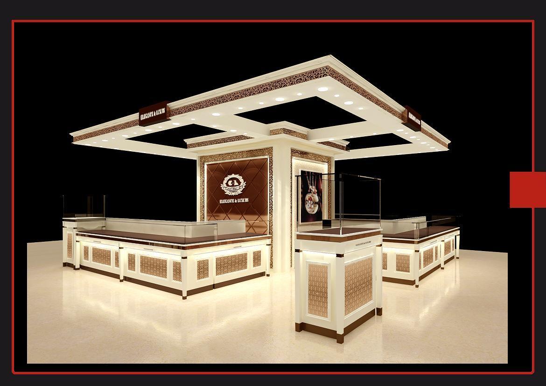珠寶店中島裝修案例圖片-店面裝修-展示設計;