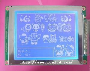5.1寸SYM320240C蓝底白字显示屏