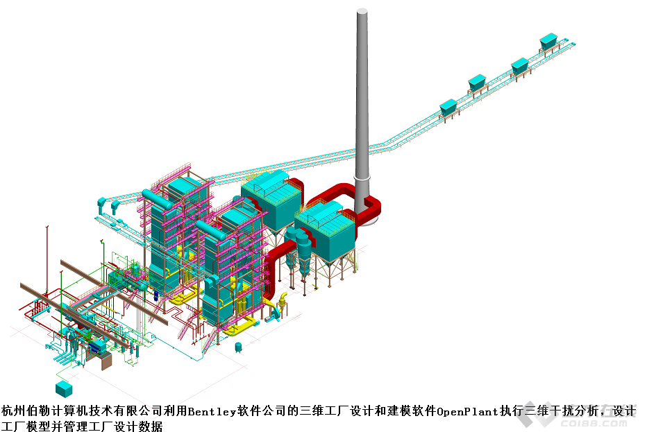BIM设计首家中小型生物质热电联产厂_土木资料网