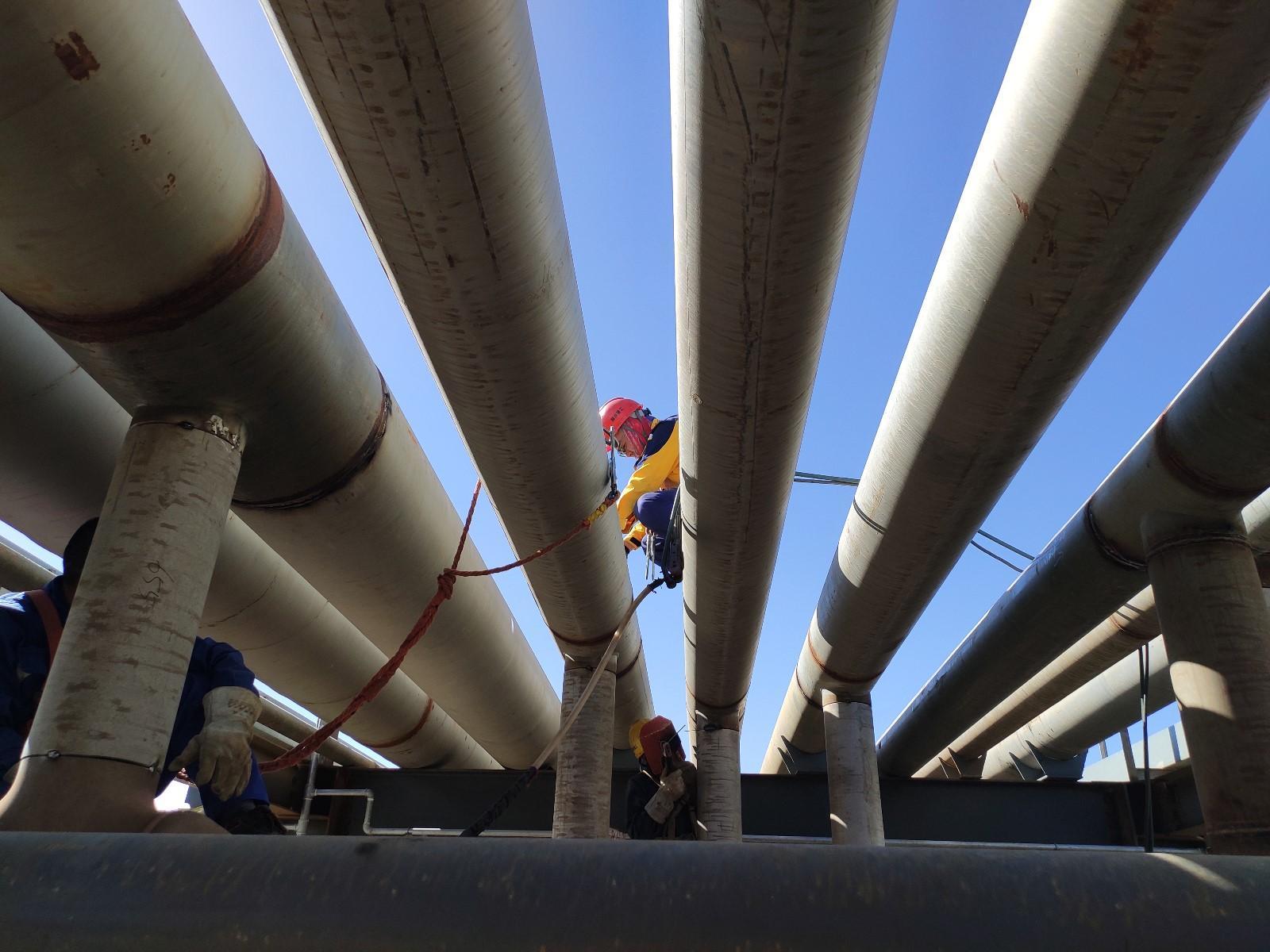青海盐湖蓝科锂业采用新澎内衬不锈钢复合管