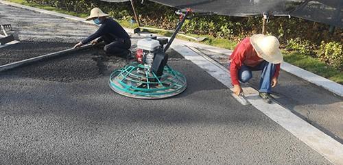 湖北武汉透水混凝土专家施工现场直播
