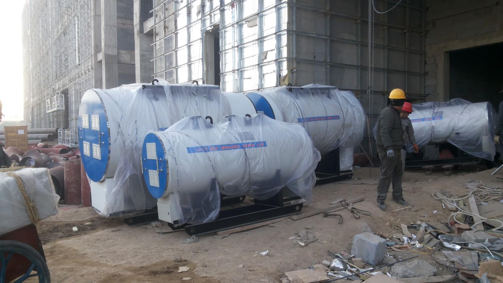 中国联通华北基地廊坊区16台电锅炉进场