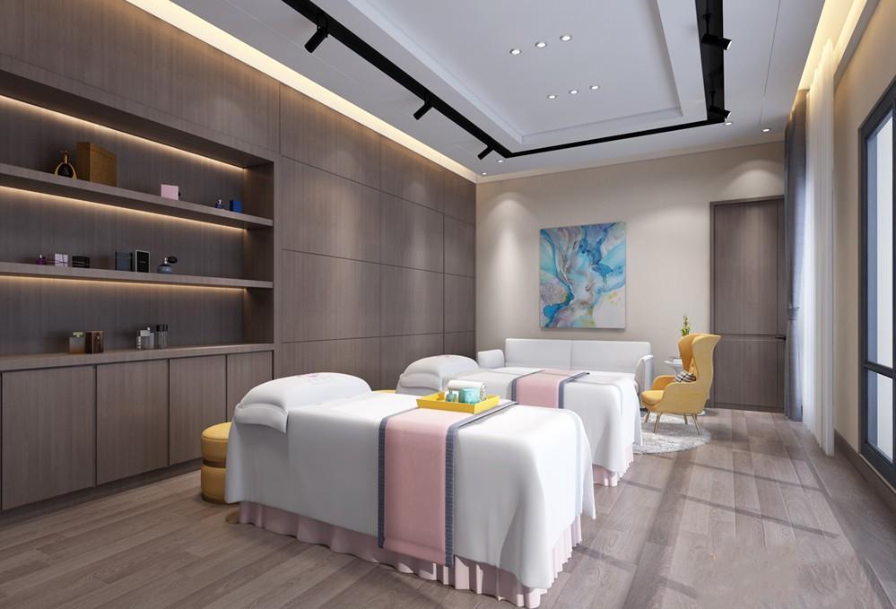 重庆美容院装修施工现场 凯致建设