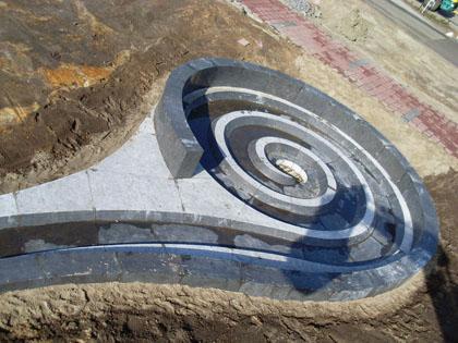 荷兰天青石大型喷泉流水石