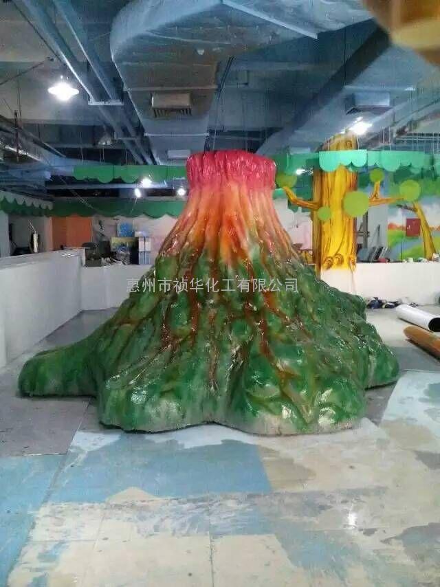 火山泡沫雕塑道具喷涂聚脲涂料工程