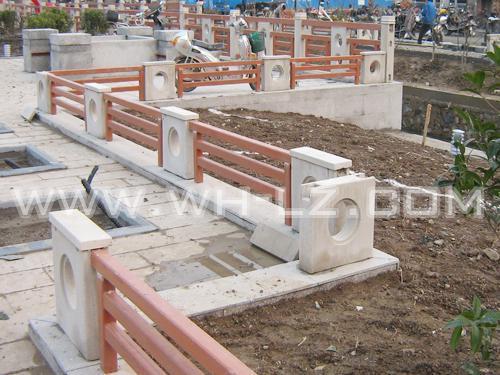 江苏城市河道景观石木护栏