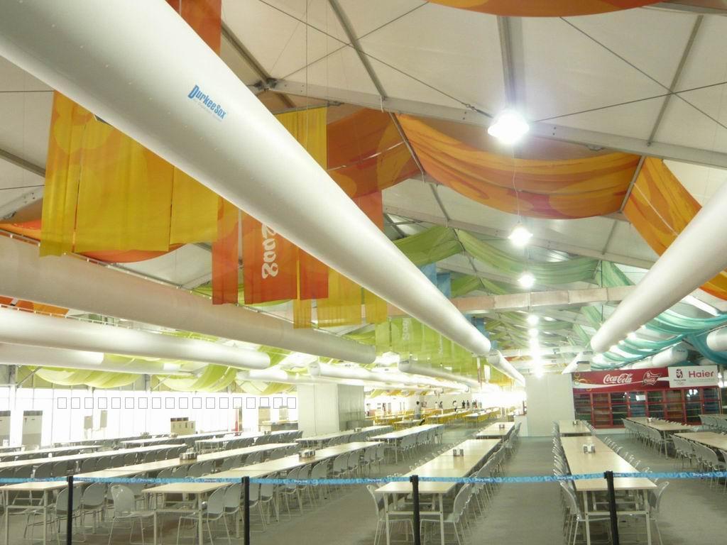 索斯风管系统在奥运餐厅的成功应用