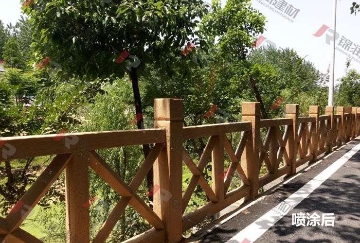锦润安徽合肥4A景区仿木栏杆栈道工程