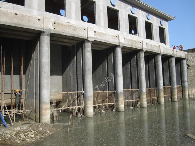 提灌站混凝土柱被腐蚀后的快速修复
