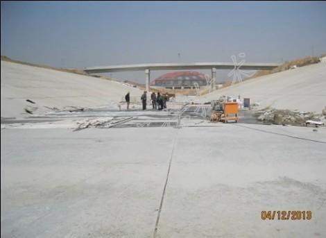 大型水利工程混凝土表面冻害治理