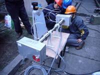 激光氧分仪安装现场-1