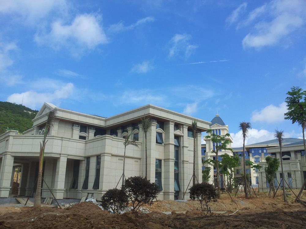 金麦子花岗岩材料的厦门海滩别墅工程