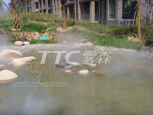 郑州绿地老街二期景观雾效
