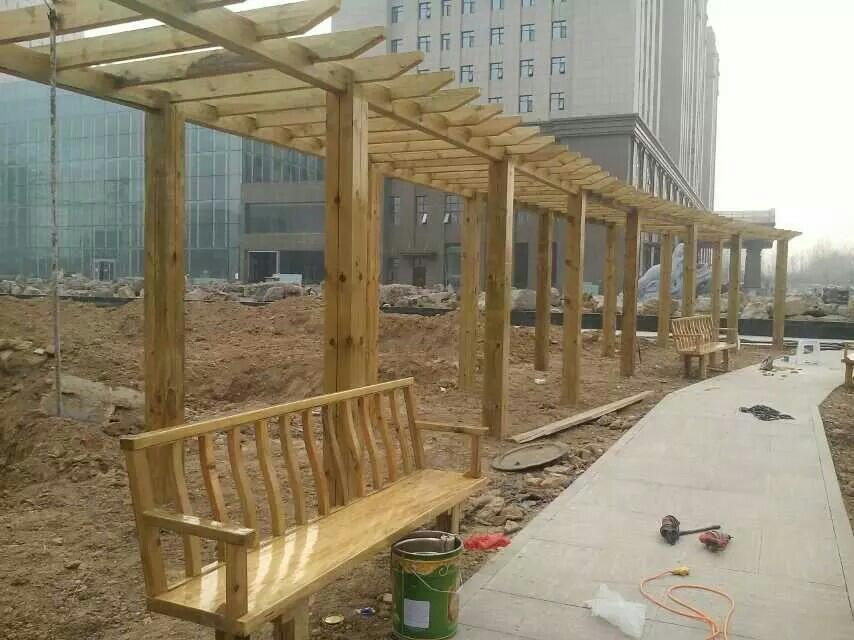 德州齐河公园防腐木工程