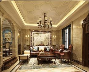 东易力天装饰怡丰森林湖400平联排别墅新古典设计案例
