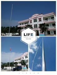 南京玄武电动旗杆生产厂家 我们制造 质量保证 学校升旗系统