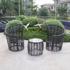 别墅花园小区休闲一桌两椅户外桌椅