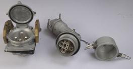 大电流大功率插头插座420A 连接器 5极 工业插头插座 防水插头插座