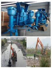 水库挖机搅拌泥沙泵|水塘液压搅拌清淤泵