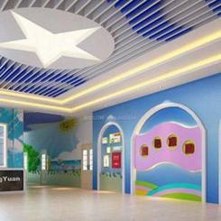 上海南汇区棚顶铝格栅吊顶厂家-直销幼儿园专用铝格栅吊顶-可定制