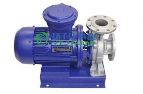 管道泵:ISW型防爆不锈钢卧式管道泵 不锈钢单级离心泵