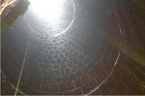 烟囱内壁防腐施工【耐酸砖、OM涂料、泡沫玻璃砖】