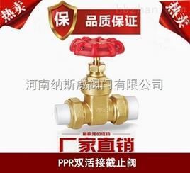 郑州纳斯威PPR双活接截止阀产品现货