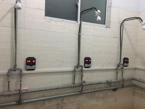 淋浴刷卡节水器,刷卡水控机,淋浴控水系统