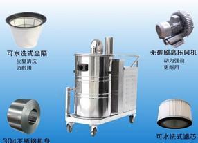 380V大功率吸尘器 工厂车间粉尘机WX2280