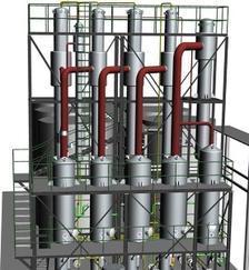 四效降膜蒸发器原理/常州华天药化/四效蒸发器