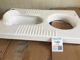 粪尿分集新型干封式厕所蹲便器农村改厕陶瓷