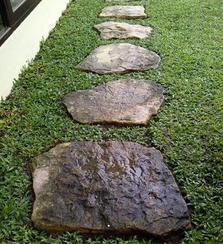 板岩飞石脚踏石SLATE STEPS