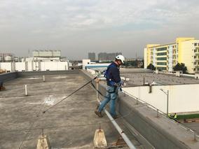 屋面水平生命線 臨時生命線 配重塊 方案設計
