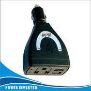 广州蓝科80W双USB逆变器/连体80W车载电源/12V-220V/5VUSB电源转换器