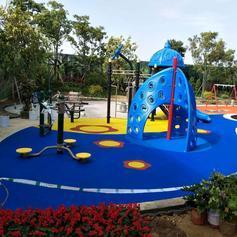 儿童公园EPDM地垫施工厂家 塑胶运动地垫