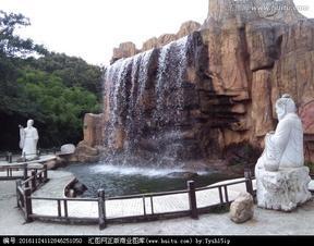 上海雕塑大型景观仿真假山水景树脂玻璃钢雕塑