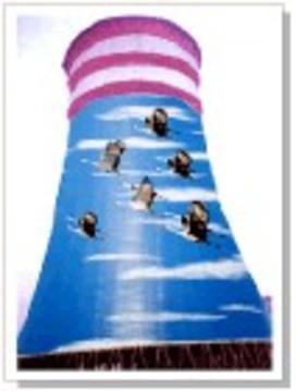 凉水塔刷涂料美化